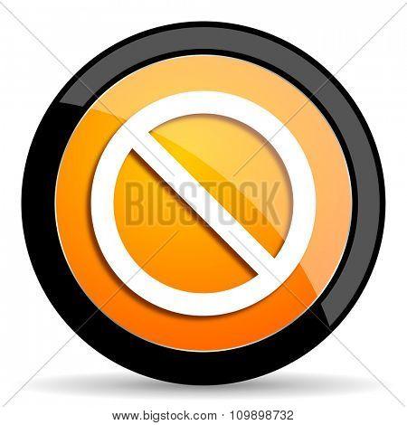 access denied orange icon