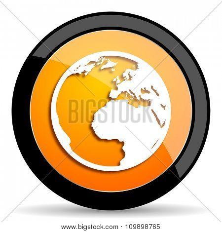 earth orange icon