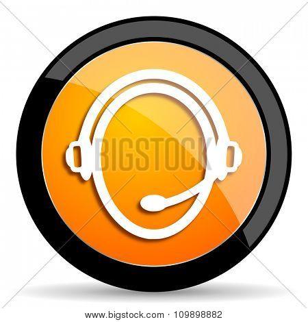 customer service orange icon