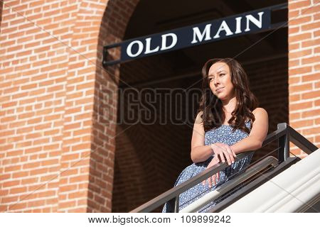 Thinking Young Woman Outdoors