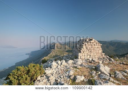 Summit of the Dinaric Mountains in Croatia