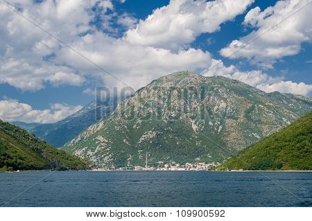 Adriatic sea mountain coast landscape