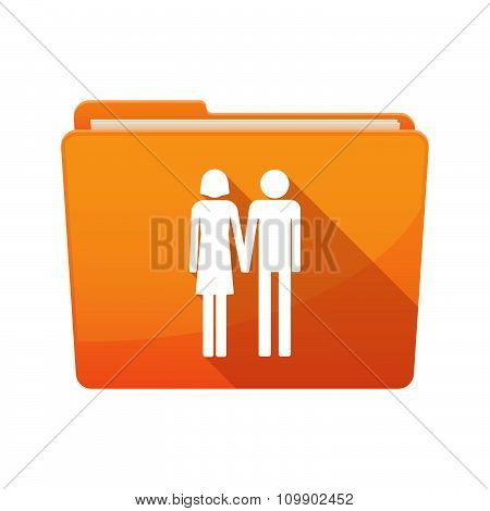 Long Shadow  Binder With  A Heterosexual Couple Pictogram