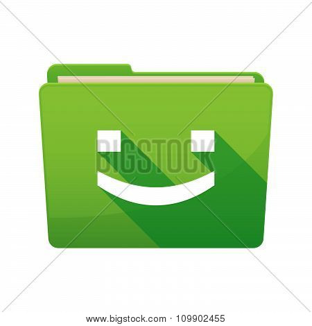 Long Shadow  Binder With  A Smile Text Face