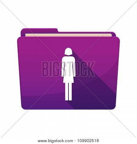 Long Shadow  Binder With  A Female Pictogram
