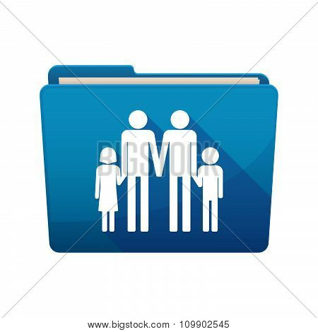 Long Shadow  Binder With  A Gay Parents  Family Pictogram