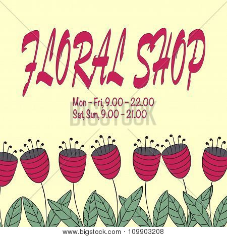 Design Concept For Floral Shop Or Salon. Simple And Elegant Logo Template In Flat Style.