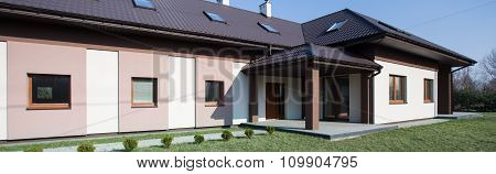 Brown And White Detached House