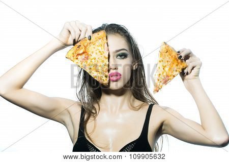 Young Girl With Pizza