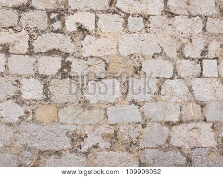 Wall Made Of Natural Black Stone