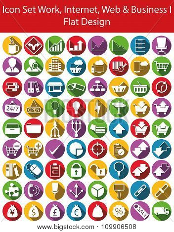 Icon Set Work, Internet, Web And Business I