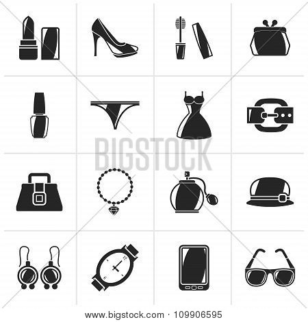 Black Female Fashion objects and accessories icons
