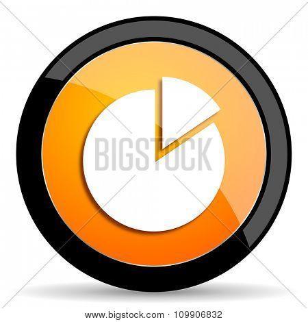 chart orange icon