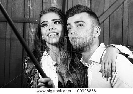 Couple Making Photo