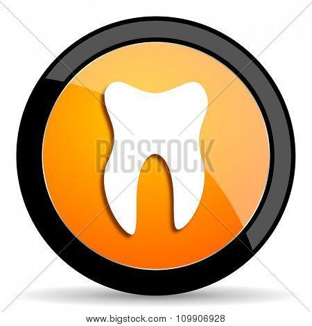 tooth orange icon