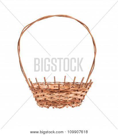 Empty brown wicker basket
