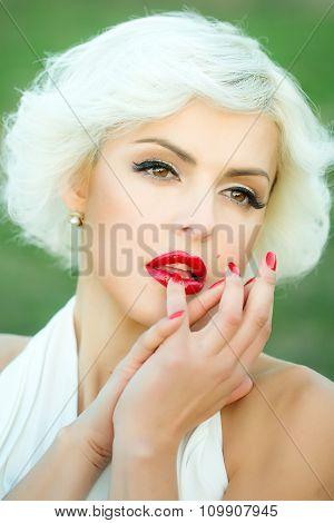 Sensual Blonde Portrait