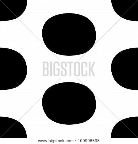 Pop Art Black White Seamless Background
