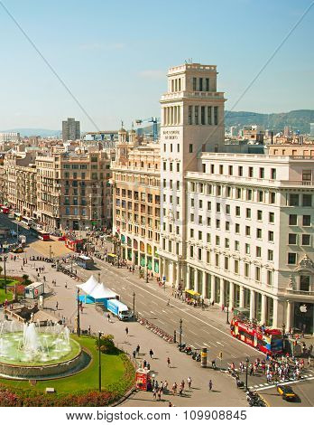 Downtown Of  Barcelona, Spain