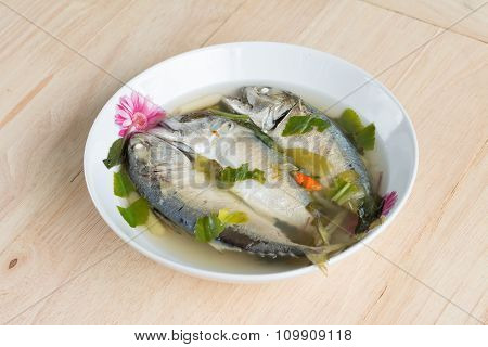 Spicy Hot And Sour Soup With Mackerel Fish
