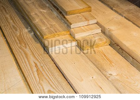 Natural wooden surface made from kiln-dried boards