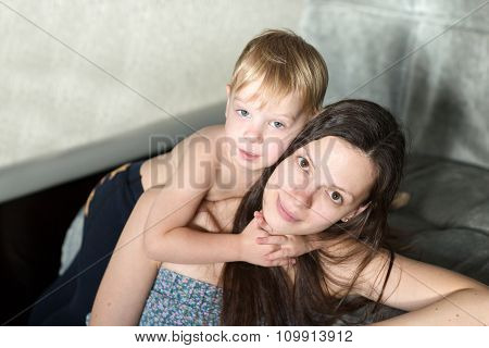Mom And Son.