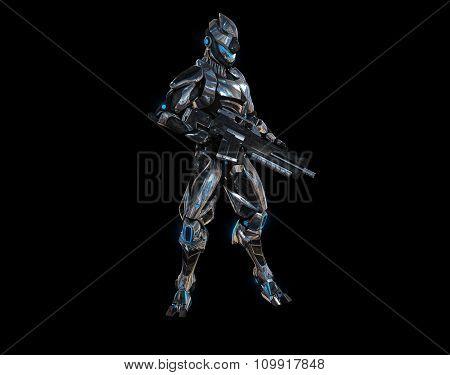 Futuristic super soldier