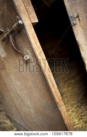 Door Open In A Barn