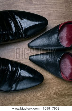 Male And Female Shoes