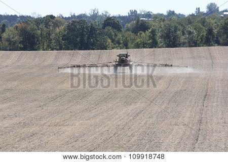 Spraying Crop Field