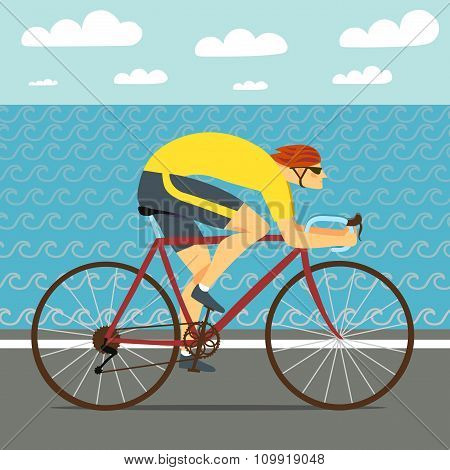 Fast Racing Cyclist