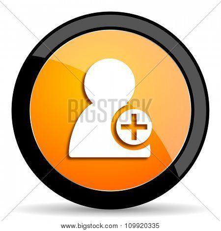 add contact orange icon
