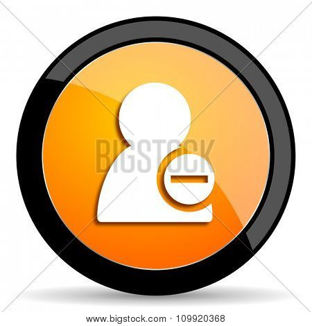 remove contact orange icon