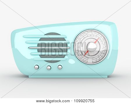 Vintage old fashioned radio