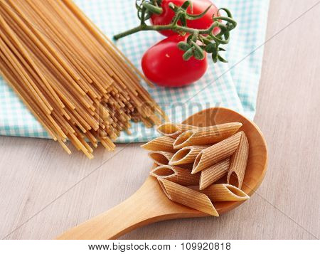Whole grain pasta assortment