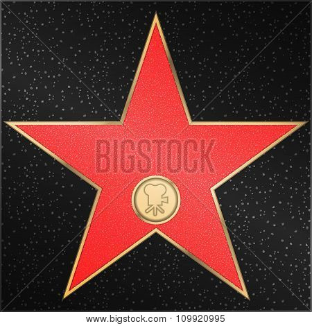 Star, classic, film, camera, vector