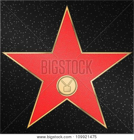 Star, television, receiver, vector