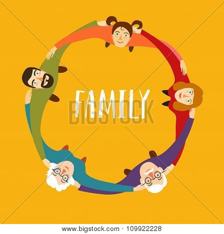 Family In Circle