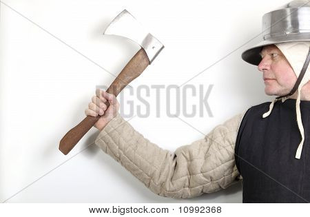 Medieval Guard With Axe