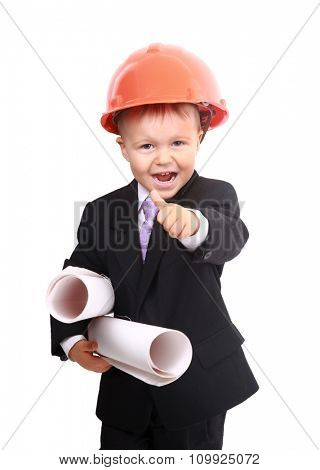 Young boy engineer