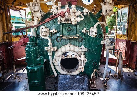 Steam Locomotive Engine Room