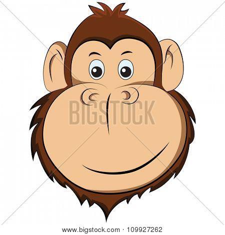 Vector illustration of happy monkey. Symbol New Year 2016.