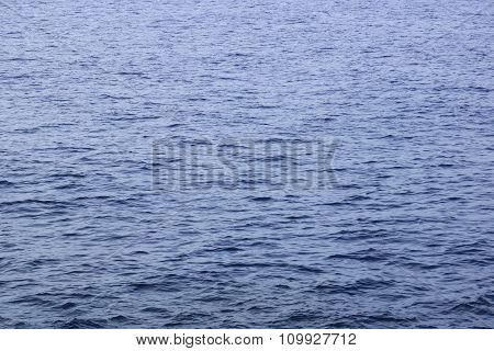 Dark Blue Ocean Water Small Ripples