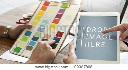 Design Creativity Digital Tablet Technology Copy Space Concept
