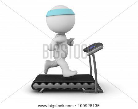 3D Character Running On Treadmill