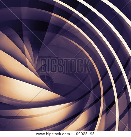 Abstract Square Dark Digital Background, 3D Spiral