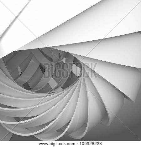 Abstract Square Digital Background With 3D Spiral