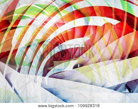 Abstract Digital Background With Colorful 3D Spiral