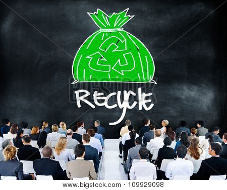 Recycle Reuse Eco Friendly Green Business Concept