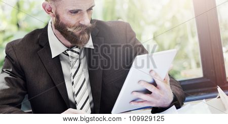 Business People Digital Device Strategy Planning Work Concept